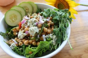 Brown Rice Chickpea Salad